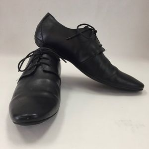 Prada Black Leather Oxfords Authentic